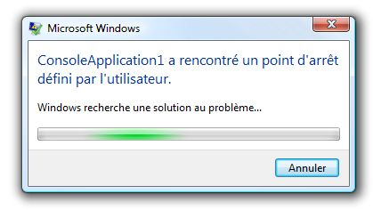 Déclenchement de la méthode Debugger.Break() en Release