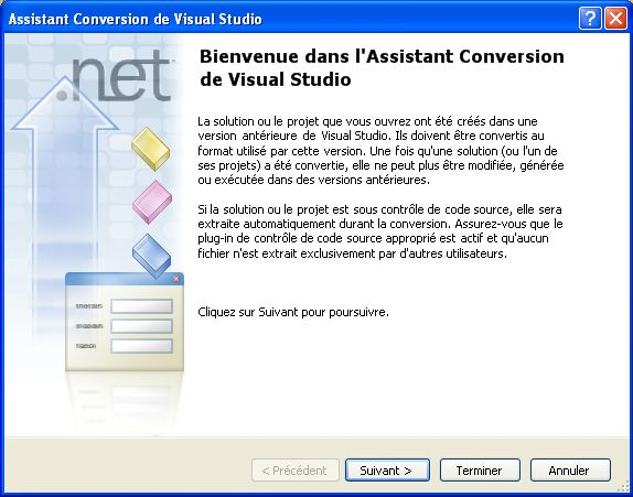 Assistant de conversion d'un projet Visual C++
